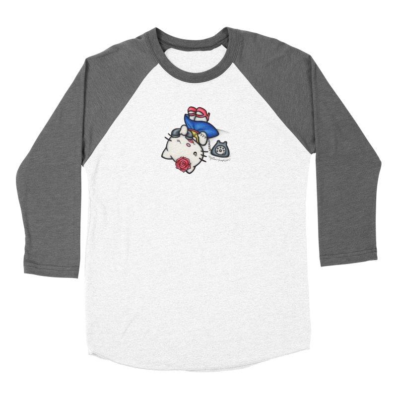 Salutations Kitty Men's Baseball Triblend Longsleeve T-Shirt by MelJo JoJo's Artist Shop