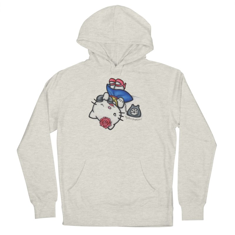 Salutations Kitty Men's French Terry Pullover Hoody by MelJo JoJo's Artist Shop