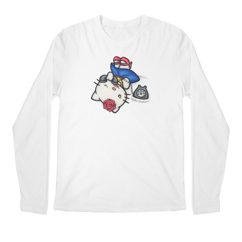 Salutations Kitty Men's Regular Longsleeve T-Shirt by MelJo JoJo's Artist Shop