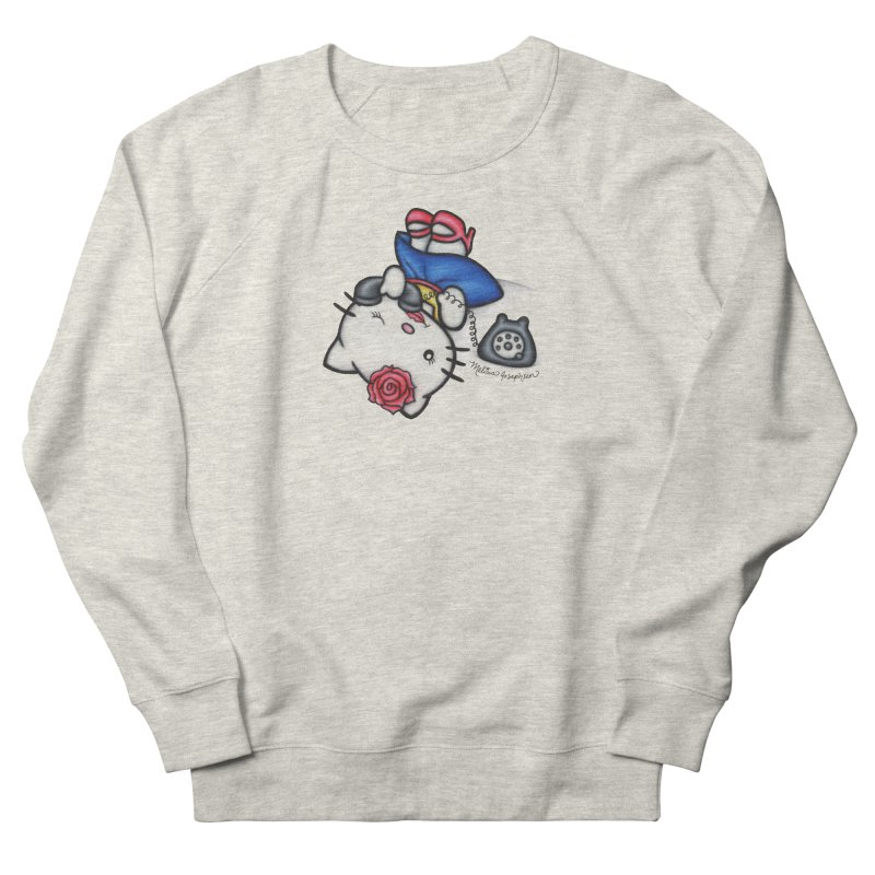 Salutations Kitty Men's French Terry Sweatshirt by MelJo JoJo's Artist Shop