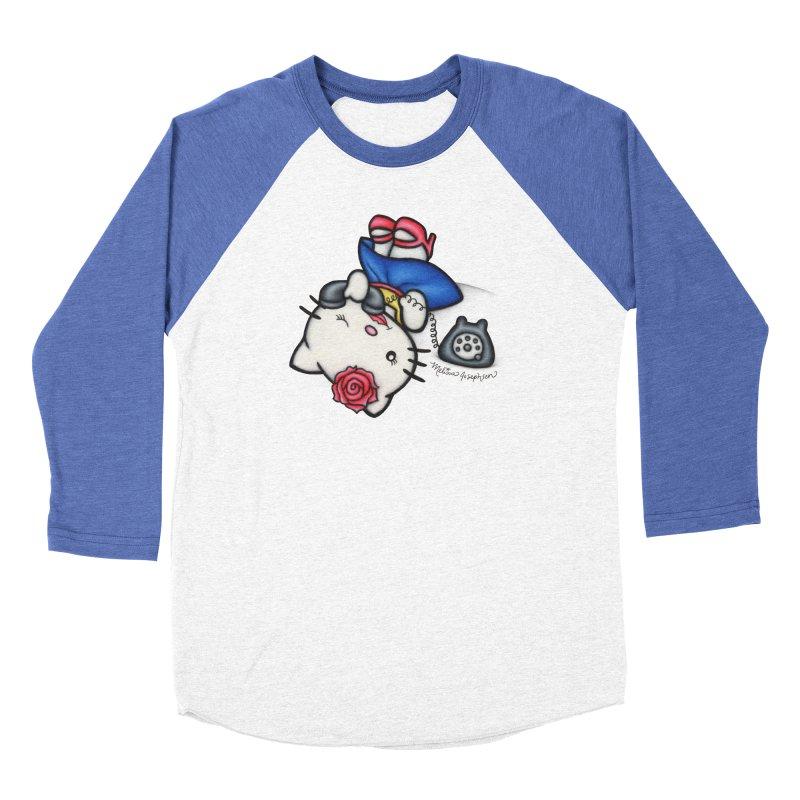 Salutations Kitty Women's Baseball Triblend T-Shirt by MelJo JoJo's Artist Shop
