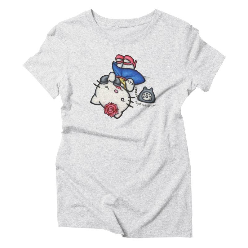 Salutations Kitty Women's T-Shirt by MelJo JoJo's Artist Shop