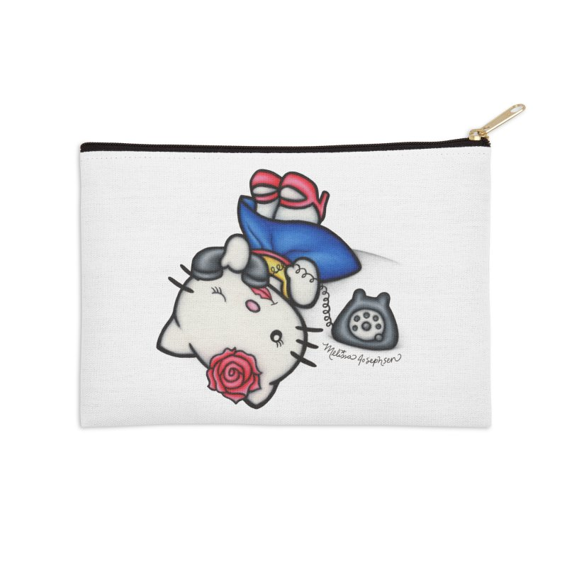 Salutations Kitty Accessories Zip Pouch by MelJo JoJo's Artist Shop