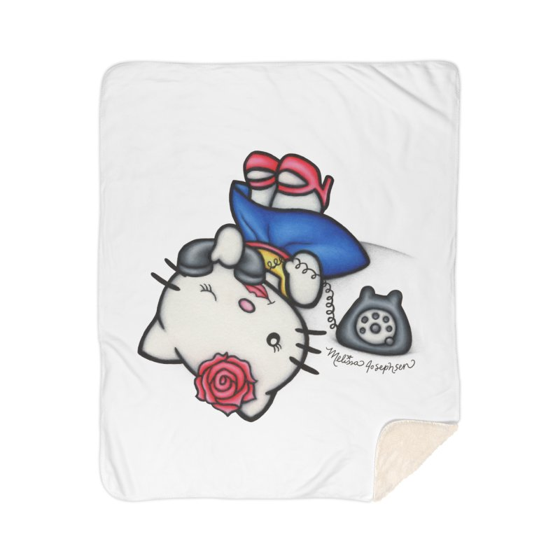 Salutations Kitty Home Sherpa Blanket Blanket by MelJo JoJo's Artist Shop