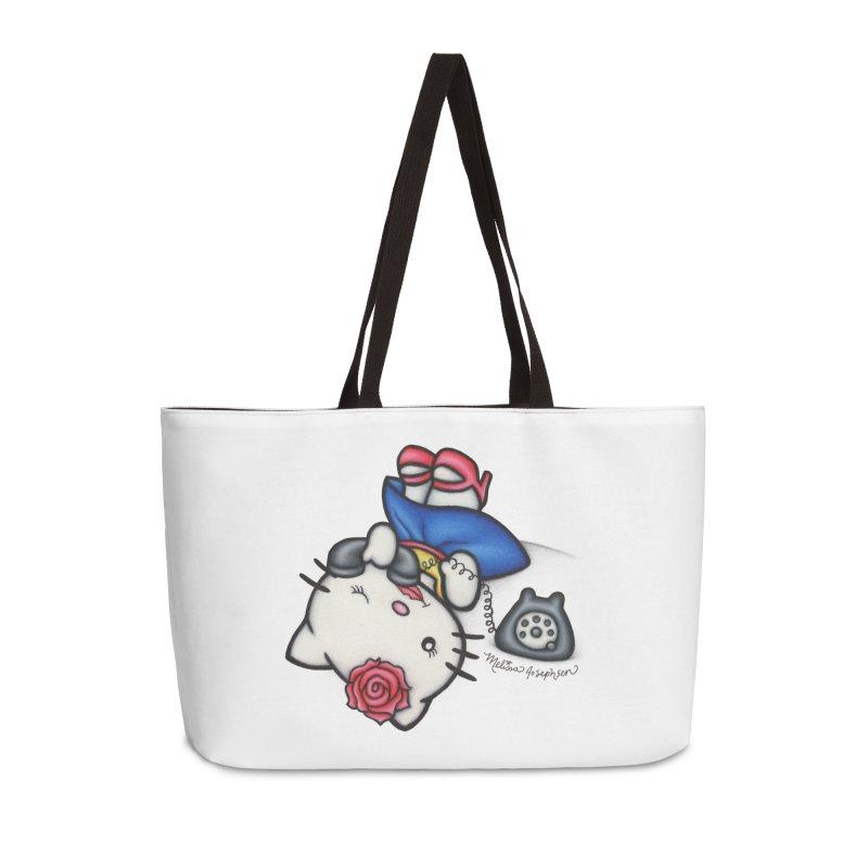 Salutations Kitty Accessories Weekender Bag Bag by MelJo JoJo's Artist Shop