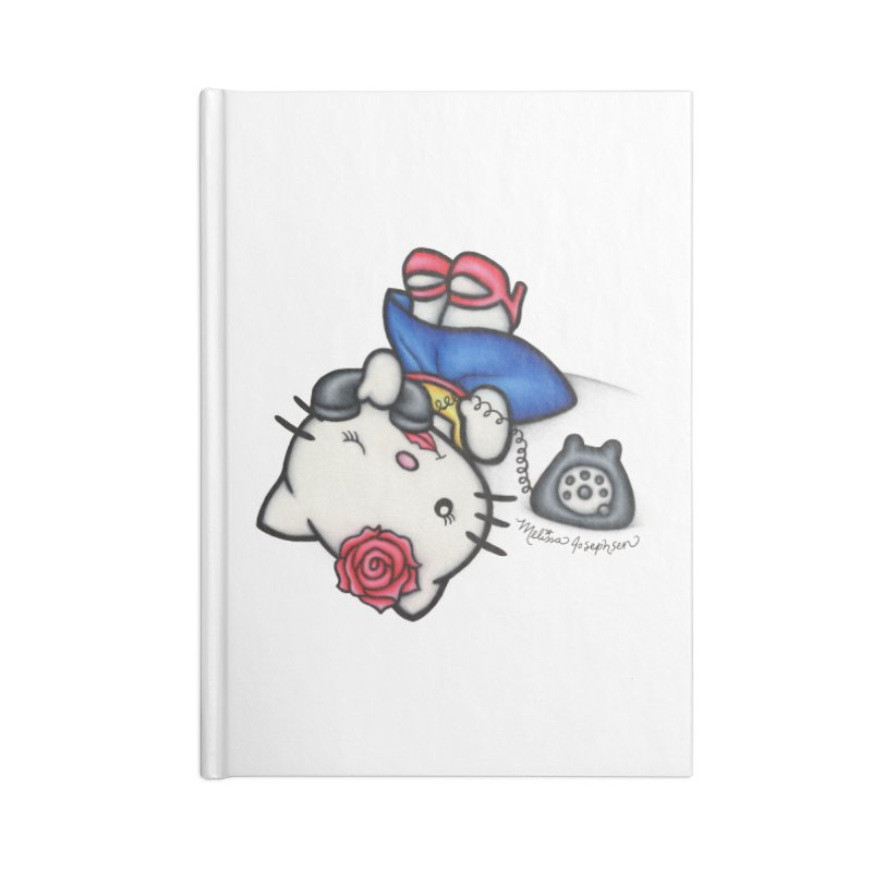 Salutations Kitty Accessories Lined Journal Notebook by MelJo JoJo's Artist Shop