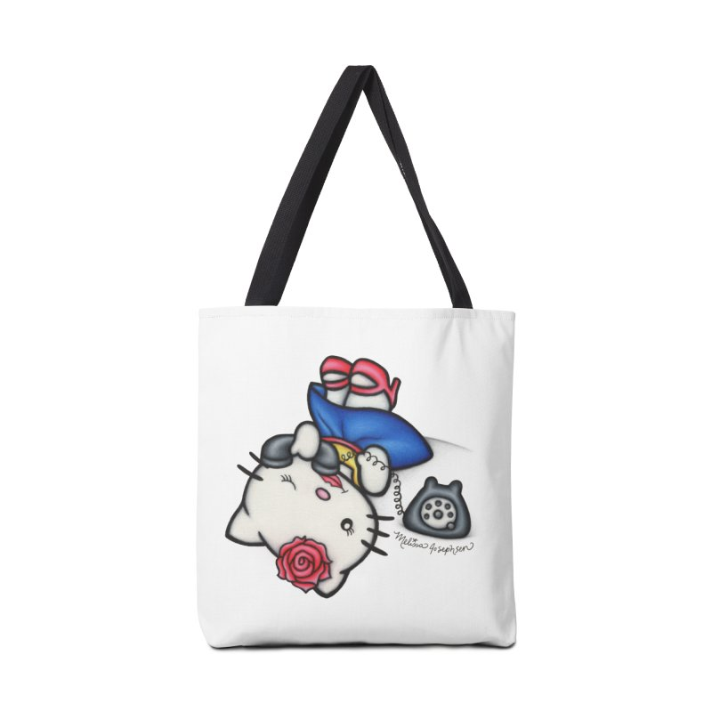 Salutations Kitty in Tote Bag by MelJo JoJo's Artist Shop