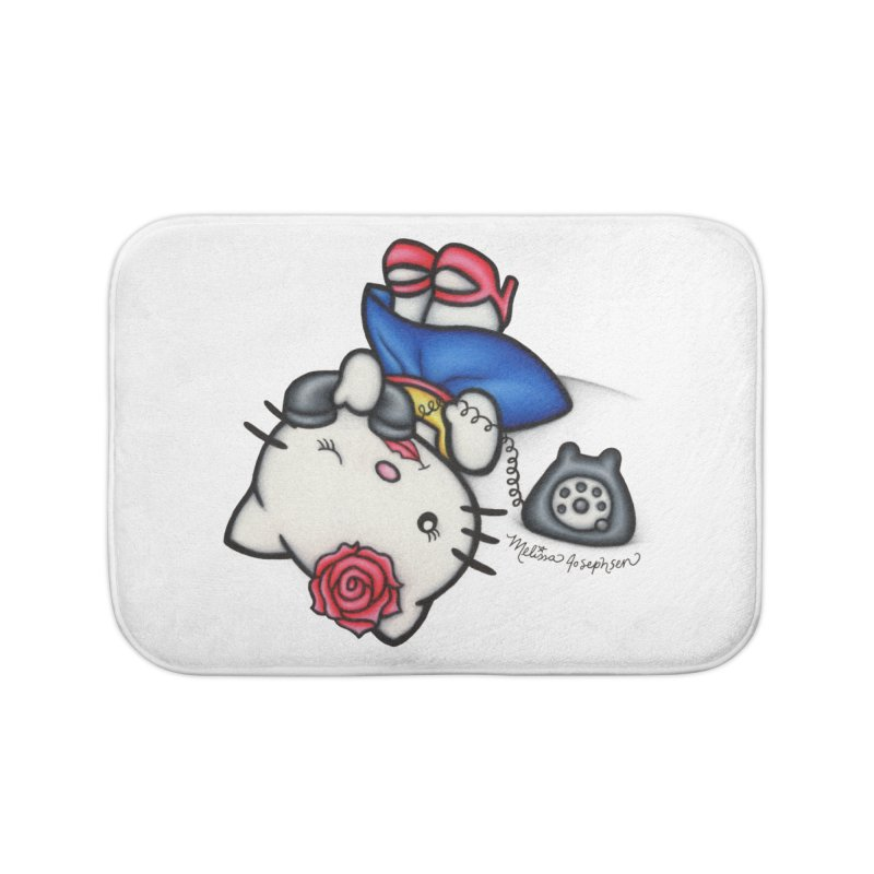 Salutations Kitty Home Bath Mat by MelJo JoJo's Artist Shop