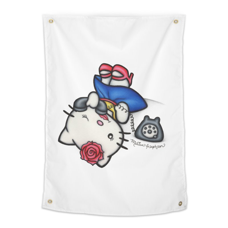 Salutations Kitty Home Tapestry by MelJo JoJo's Artist Shop