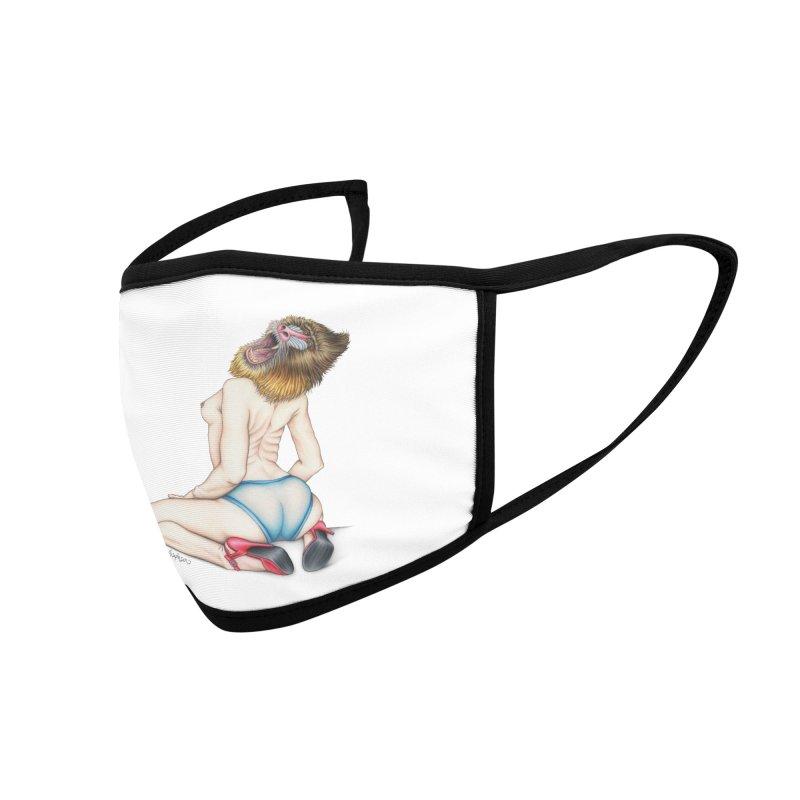 Lady in Blue Accessories Face Mask by MelJo JoJo's Artist Shop