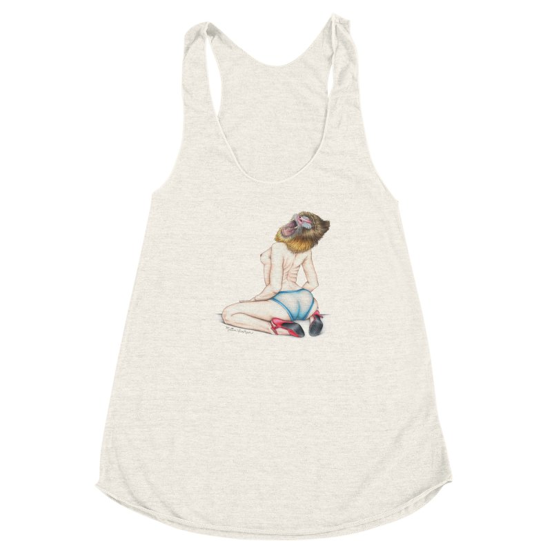 Lady in Blue Women's Racerback Triblend Tank by MelJo JoJo's Artist Shop