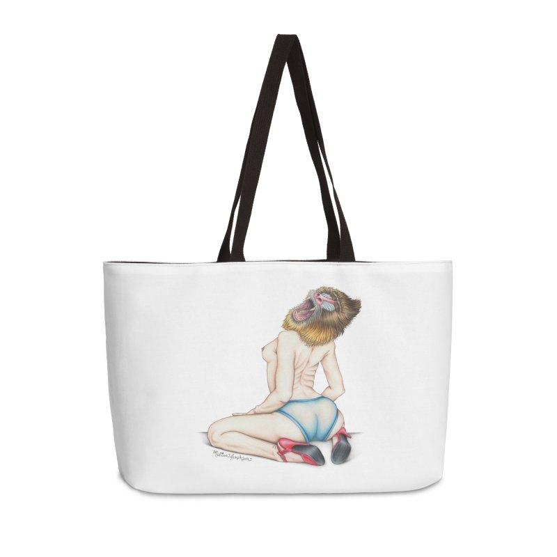 Lady in Blue Accessories Weekender Bag Bag by MelJo JoJo's Artist Shop