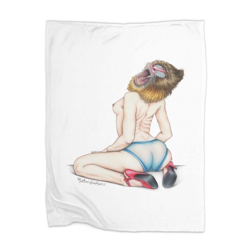 Lady in Blue Home Blanket by MelJo JoJo's Artist Shop
