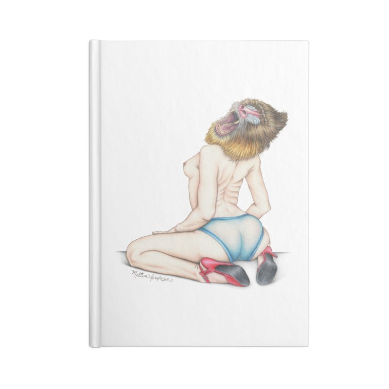 Lady in Blue Accessories Notebook by MelJo JoJo's Artist Shop