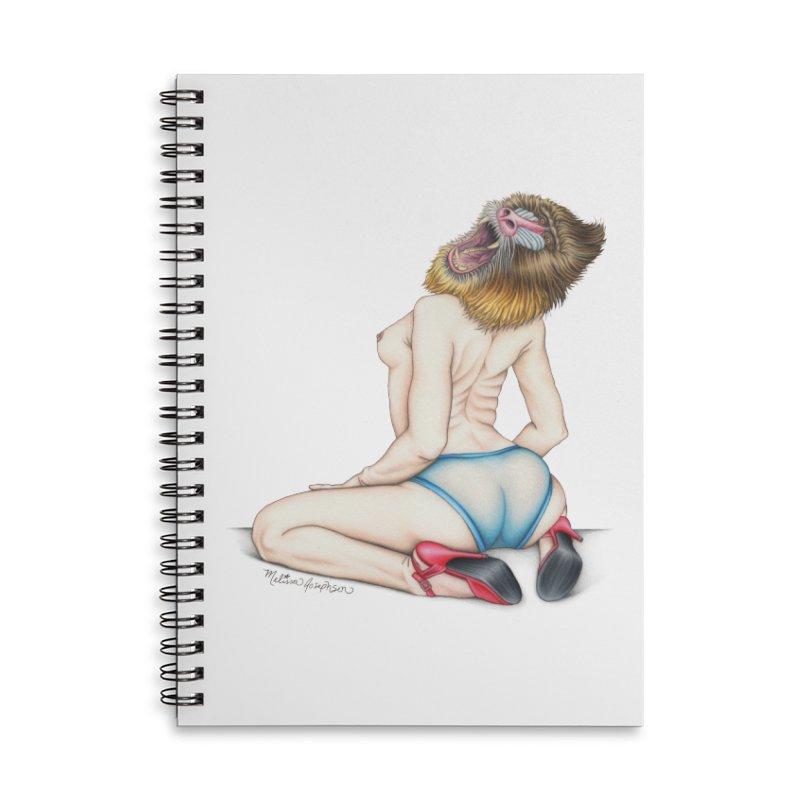 Lady in Blue Accessories Lined Spiral Notebook by MelJo JoJo's Artist Shop