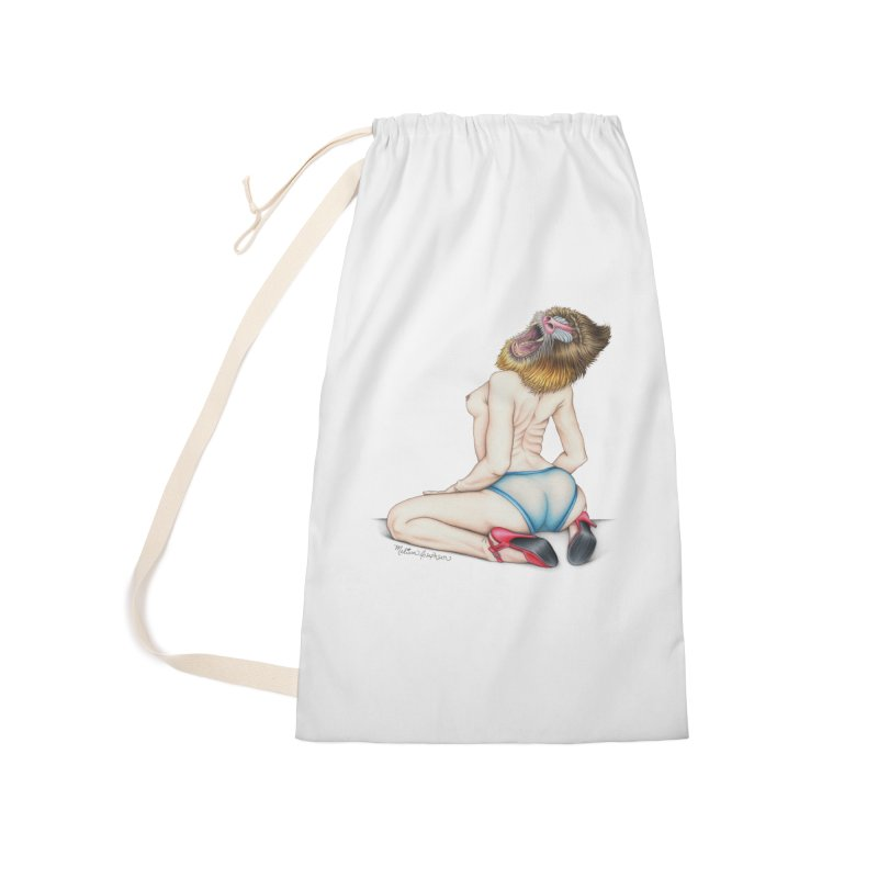 Lady in Blue Accessories Laundry Bag Bag by MelJo JoJo's Artist Shop