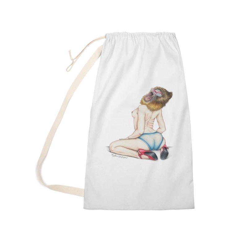 Lady in Blue Accessories Bag by MelJo JoJo's Artist Shop