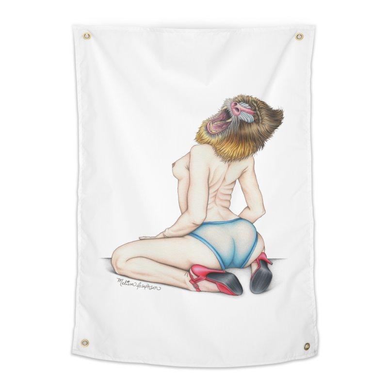 Lady in Blue Home Tapestry by MelJo JoJo's Artist Shop