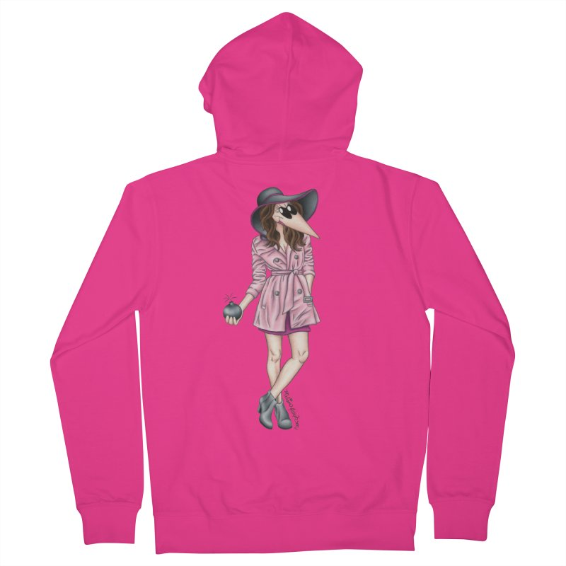 Girly Spy Men's French Terry Zip-Up Hoody by MelJo JoJo's Artist Shop