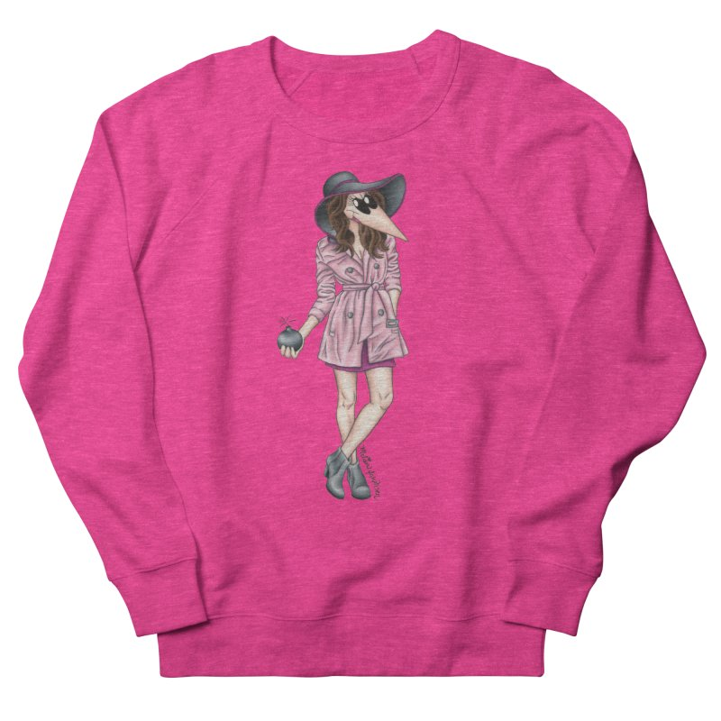 Girly Spy Women's French Terry Sweatshirt by MelJo JoJo's Artist Shop