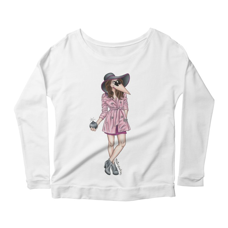 Girly Spy Women's Scoop Neck Longsleeve T-Shirt by MelJo JoJo's Artist Shop