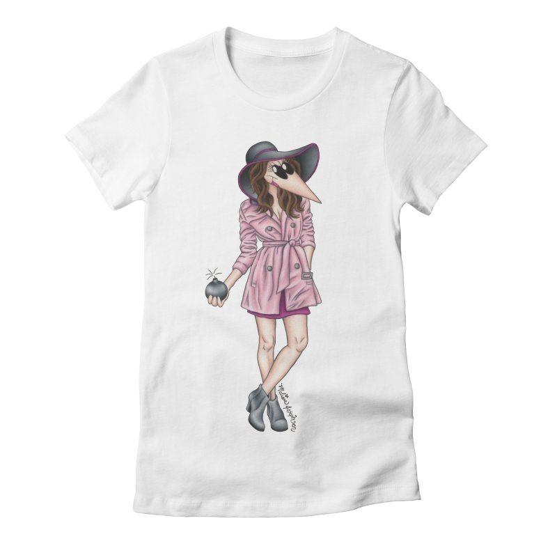 Girly Spy Women's Fitted T-Shirt by MelJo JoJo's Artist Shop