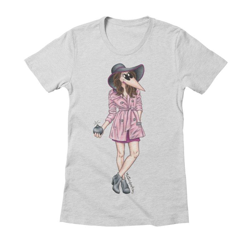 Girly Spy Women's Fitted T-Shirt by MelJo JoJo's Artist Shop