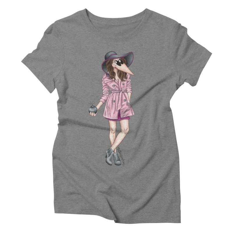 Girly Spy Women's Triblend T-shirt by MelJo JoJo's Artist Shop