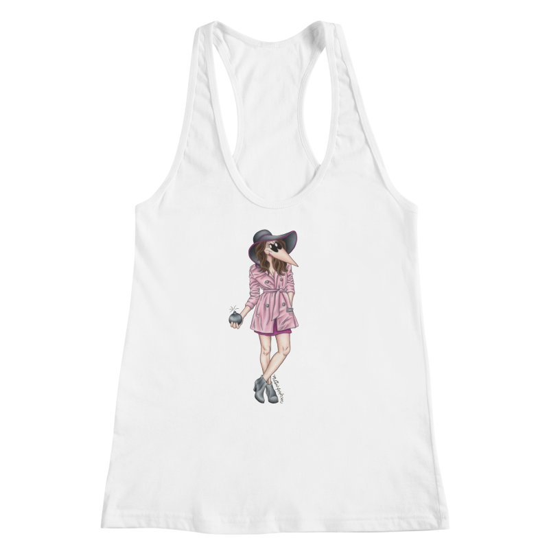 Girly Spy Women's Racerback Tank by MelJo JoJo's Artist Shop