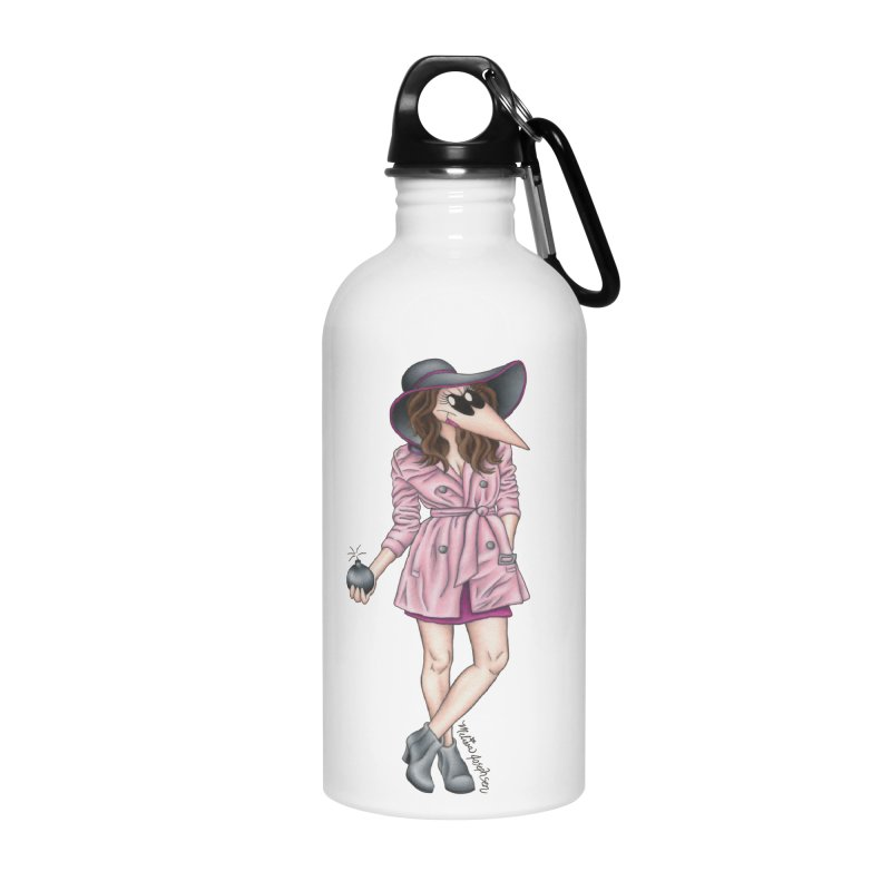 Girly Spy Accessories Water Bottle by MelJo JoJo's Artist Shop
