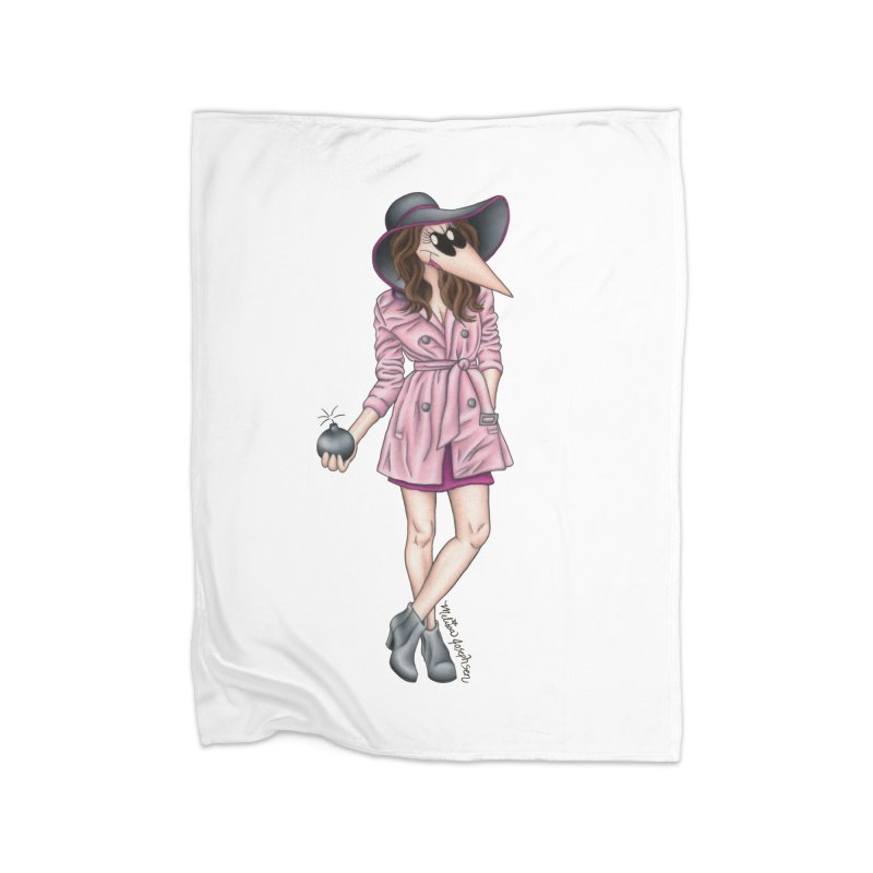 Girly Spy Home Fleece Blanket Blanket by MelJo JoJo's Artist Shop