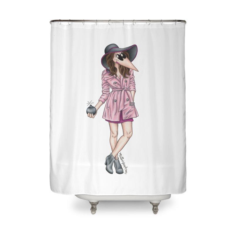 Girly Spy Home Shower Curtain by MelJo JoJo's Artist Shop