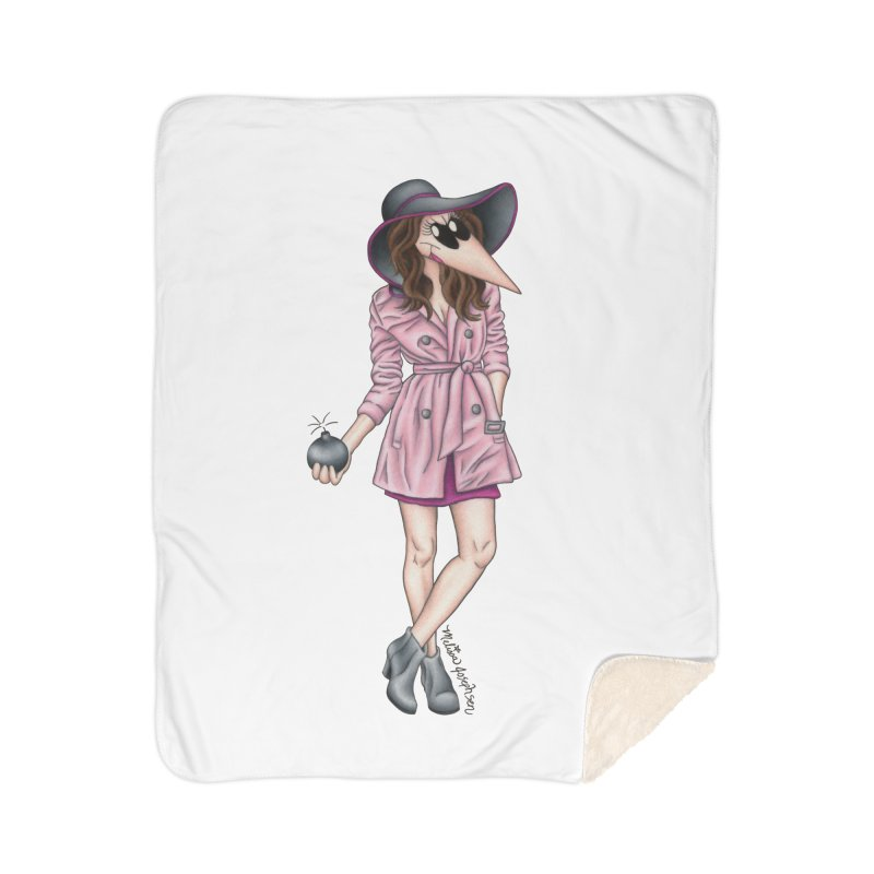 Girly Spy Home Sherpa Blanket Blanket by MelJo JoJo's Artist Shop