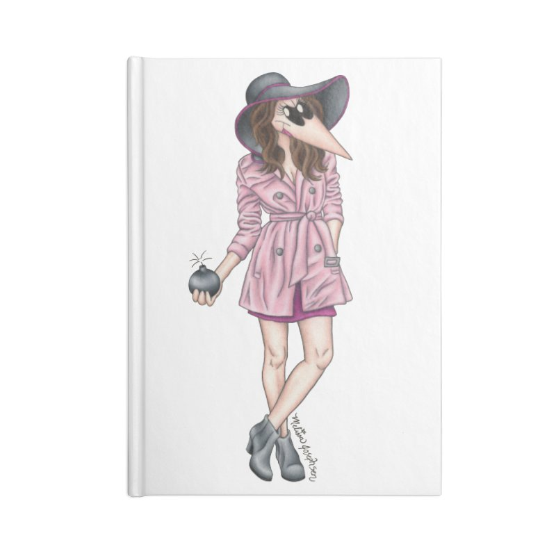 Girly Spy Accessories Blank Journal Notebook by MelJo JoJo's Artist Shop