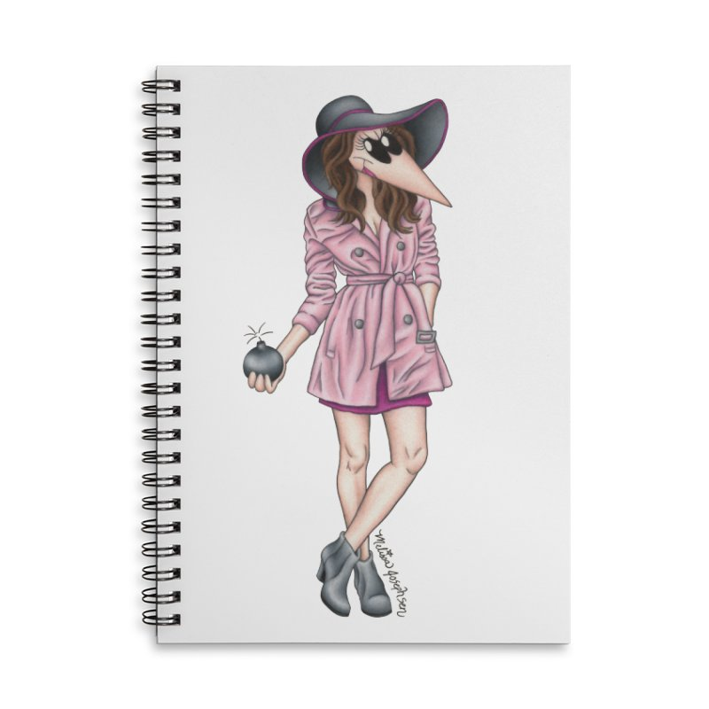 Girly Spy in Lined Spiral Notebook by MelJo JoJo's Artist Shop