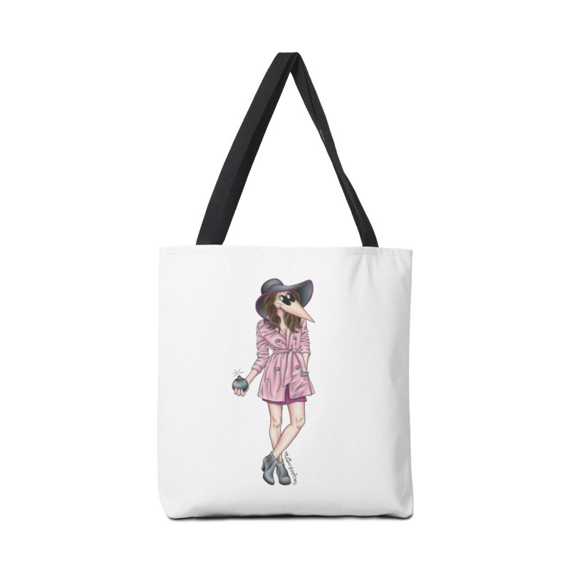 Girly Spy Accessories Tote Bag Bag by MelJo JoJo's Artist Shop