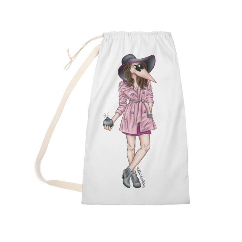 Girly Spy Accessories Laundry Bag Bag by MelJo JoJo's Artist Shop