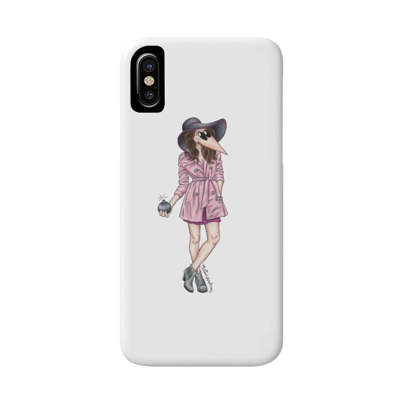 Girly Spy Accessories Phone Case by MelJo JoJo's Artist Shop