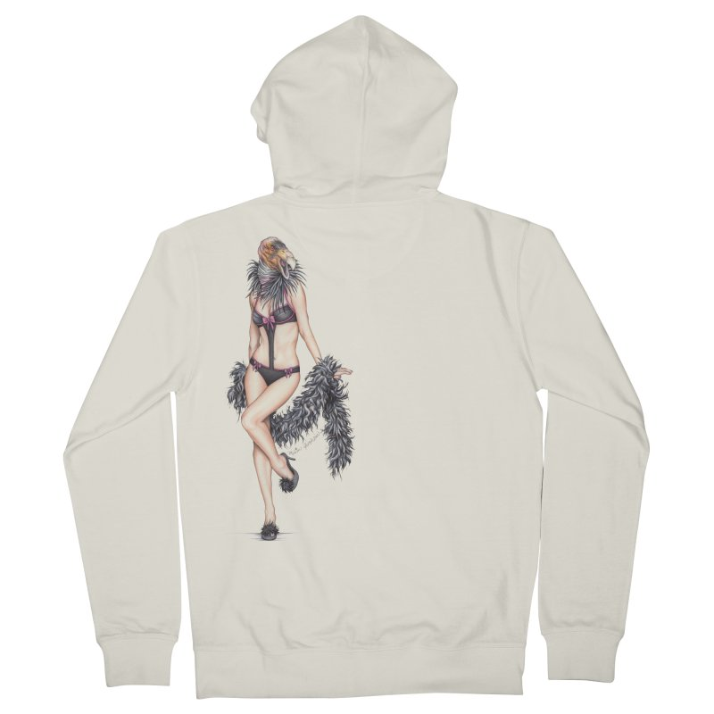California Condor Gurl Men's French Terry Zip-Up Hoody by MelJo JoJo's Artist Shop