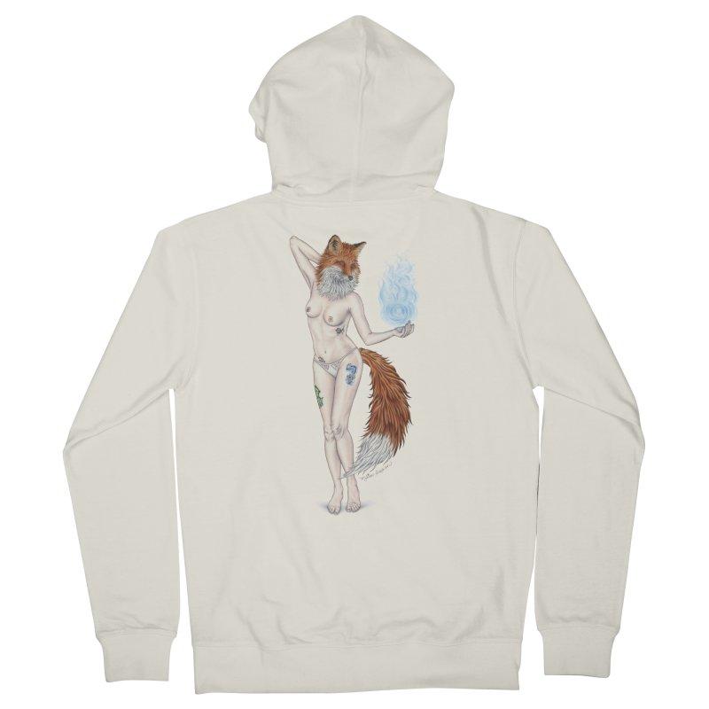 Sparkle Fox Women's Zip-Up Hoody by MelJo JoJo's Artist Shop