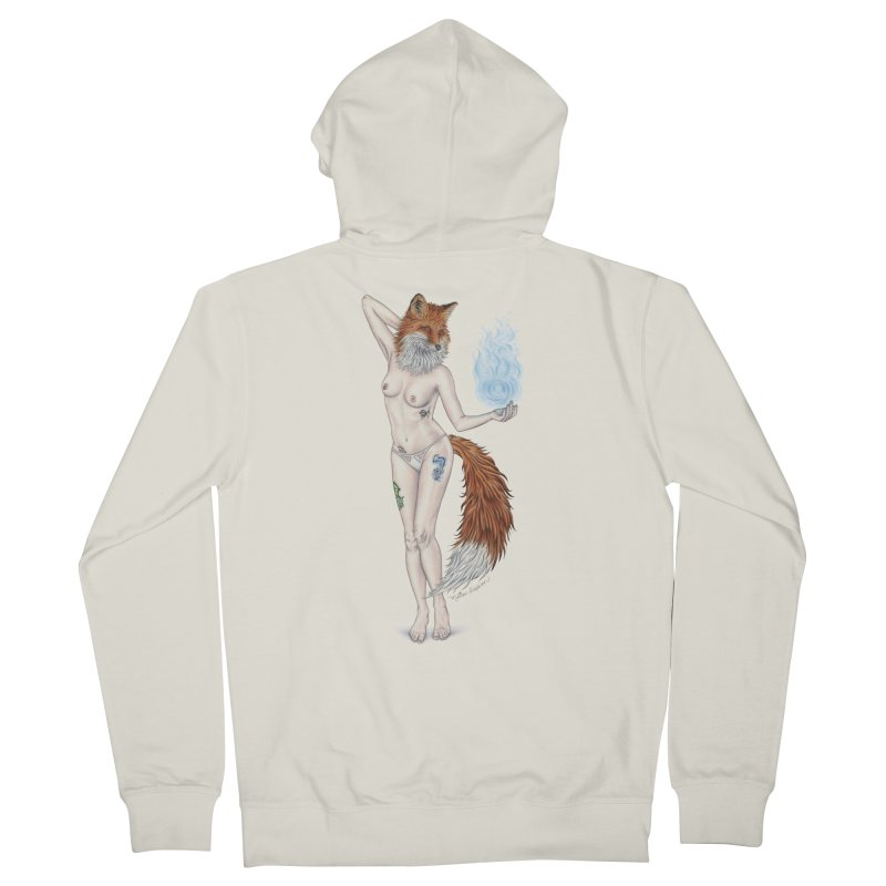 Sparkle Fox Men's Zip-Up Hoody by MelJo JoJo's Artist Shop