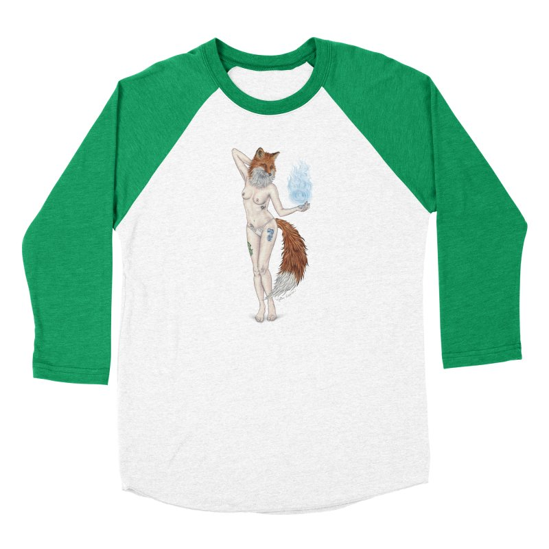 Sparkle Fox Women's Baseball Triblend Longsleeve T-Shirt by MelJo JoJo's Artist Shop