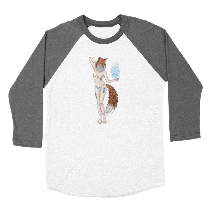 Sparkle Fox Men's Baseball Triblend Longsleeve T-Shirt by MelJo JoJo's Artist Shop