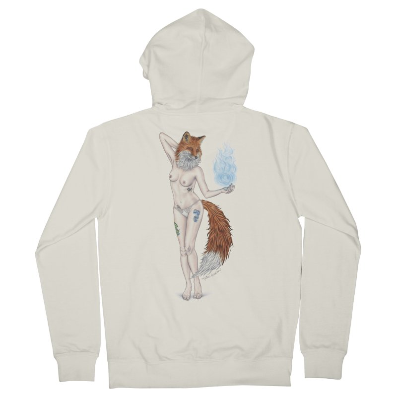 Sparkle Fox Men's French Terry Zip-Up Hoody by MelJo JoJo's Artist Shop