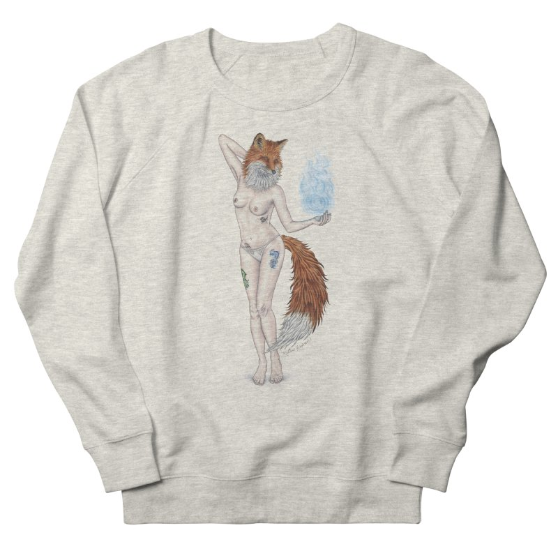 Sparkle Fox Women's French Terry Sweatshirt by MelJo JoJo's Artist Shop