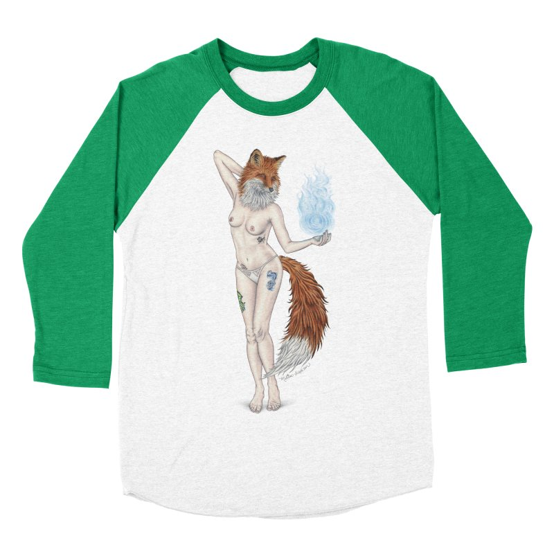 Sparkle Fox Women's Baseball Triblend Longsleeve T-Shirt by MelJo JoJo's Artist Shop