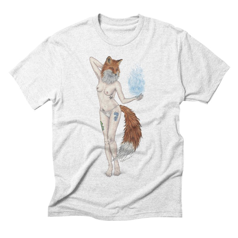 Sparkle Fox Men's Triblend T-shirt by MelJo JoJo's Artist Shop