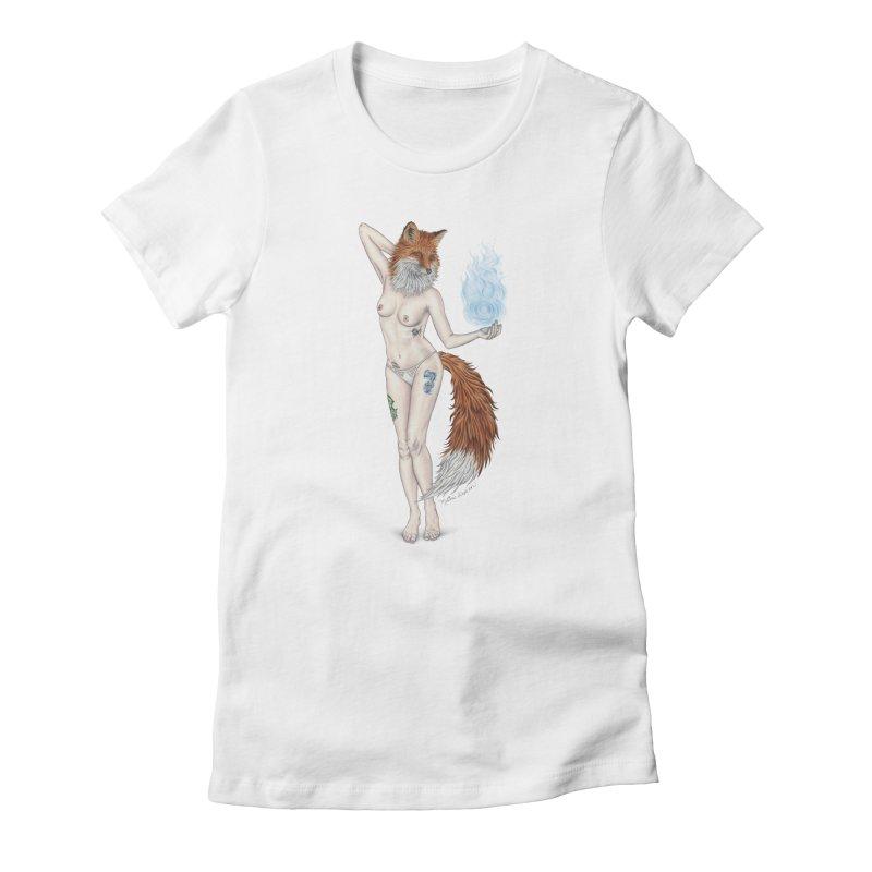 Sparkle Fox Women's T-Shirt by MelJo JoJo's Artist Shop