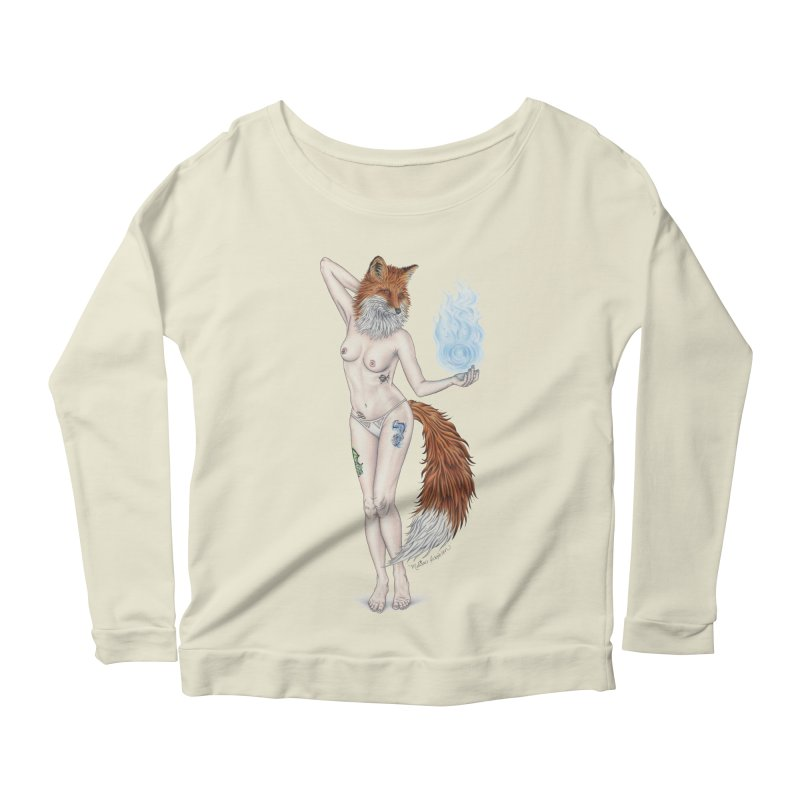 Sparkle Fox Women's Scoop Neck Longsleeve T-Shirt by MelJo JoJo's Artist Shop