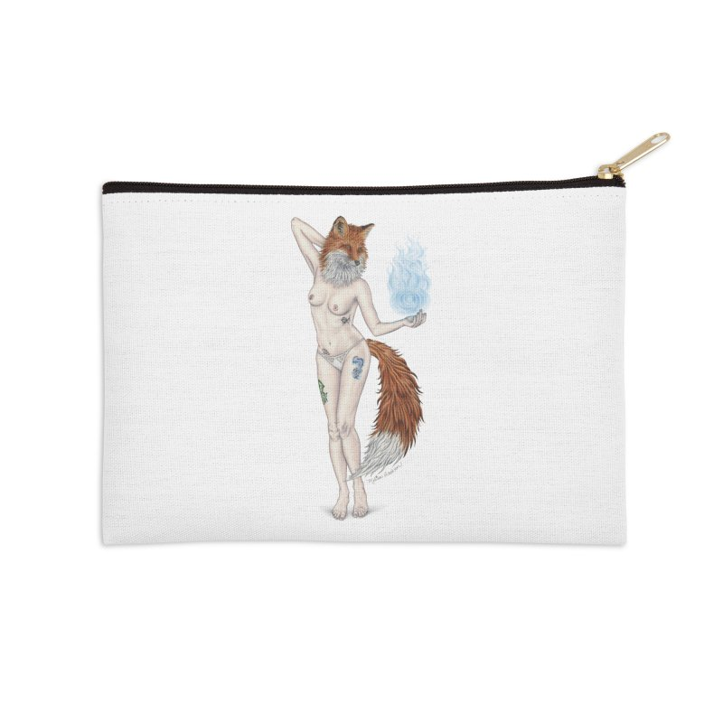 Sparkle Fox Accessories Zip Pouch by MelJo JoJo's Artist Shop